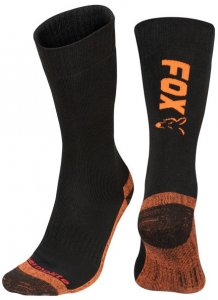 Fox Ponožky Collection Black Orange Thermolite long sock - 40-43