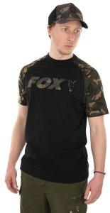 Fox Triko Raglan T-Shirt Black/Camo - XXL