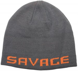 Savage Gear Čepice Logo Beanie One Size Rock Grey Orange